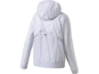 PUMA Damen Windbreaker-Jacke Be Bold Graphic Woven Jacket Grau