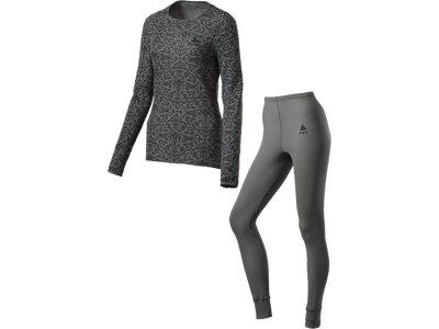ODLO Damen Wäsche-Set Warm Camouflage Grau
