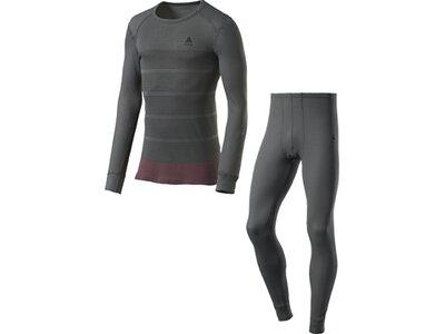 ODLO Herren Wäsche-Set Warm Camouflage Grau