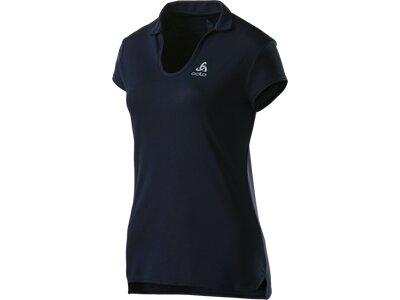 ODLO Damen Poloshirt Polo s/s KUMANO LIGHT Blau