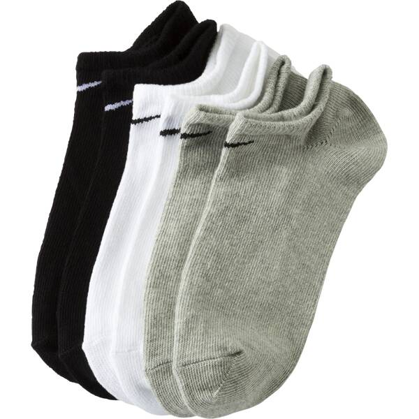 NIKE Herren Laufsocken Value No Show 3-er Pack Silber