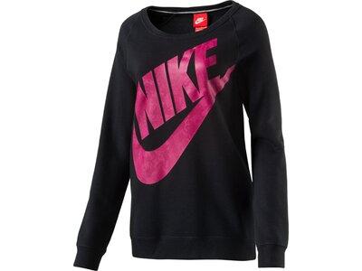 NIKE Damen Sweatshirt NIKE RLY BF EXT CRW LOGO WERE Schwarz