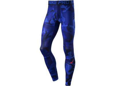 NIKE Herren Tight Hypercool AOP Blau