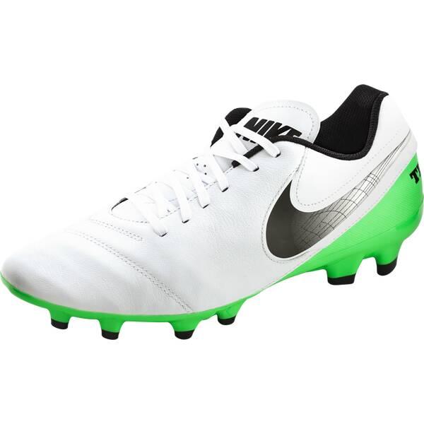NIKE Herren Fußballschuhe Rasen Tiempo Genio II Leather FG Weiß