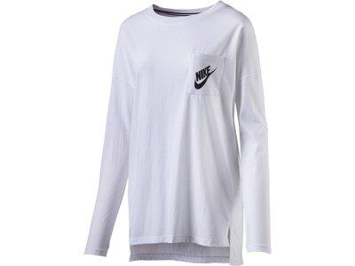 NIKE Damen T-Shirt SIGNAL LS Weiß