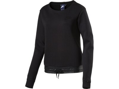 NIKE Damen Shirt AV15 CRW FLC Schwarz