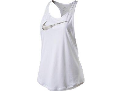 NIKE Damen Tanktop FLOW METALLIC Weiß