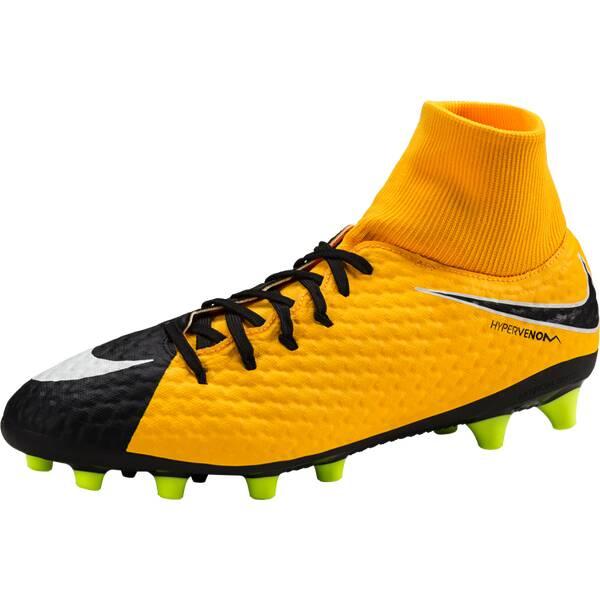 NIKE Herren Fußballschuhe Kunstrasen Hypervenom Phelon III Dynamic Fit (AG-Pro) | Schuhe > Sportschuhe > Fußballschuhe | Schwarz - Weiß - Orange | NIKE