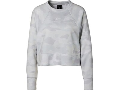 NIKE Damen Trainings-Sweatshirt Grau