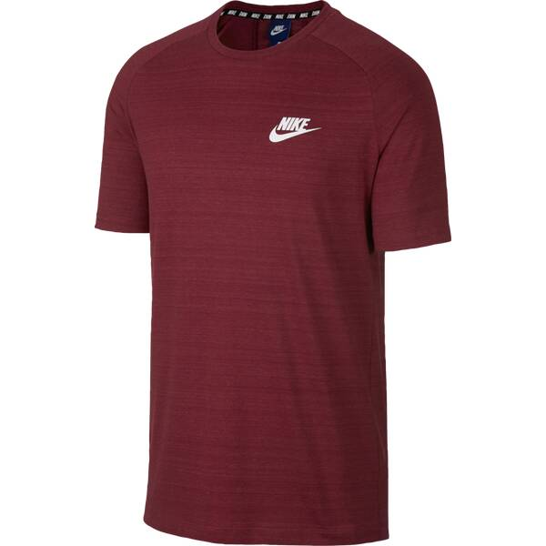 reputable site 78e20 2f4be NIKE Herren Shirt AV15 TOP KNIT SS DunkelrotWeiß