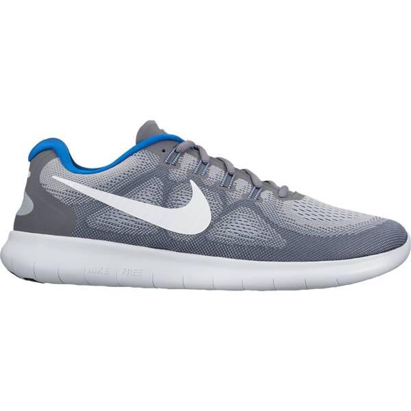 NIKE Herren Laufschuhe Nike Free Rn 2017 S | Schuhe > Sportschuhe > Laufschuhe | Grau - Weiß - Blau | NIKE