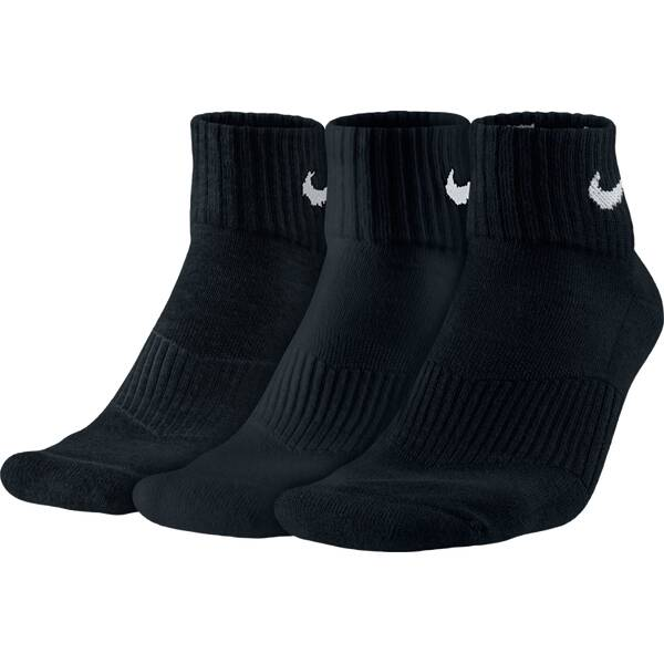 NIKE Herren Kurzsocken Cushion Quarter 3er Pack