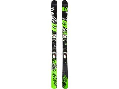 K2 Herren All-Mountain Ski Press Pro + Free Ten 85 Schwarz