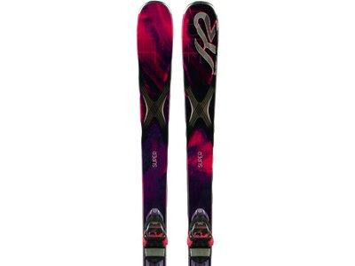 K2 Damen All-Mountain Ski SUPERFREE ER3 10 SET Schwarz