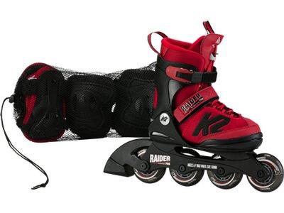 K2 Kinder Skates RAIDER PRO PACK red Rot