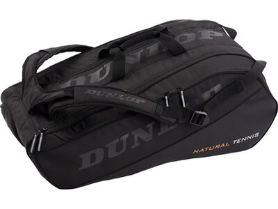 DUNLOP Tennistasche NT 12 RACKET BAG - BLACK/BLACK Schwarz