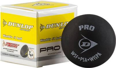 DUNLOP Ball Sq-Ball Pro, 2 gelbe Punkte 700067