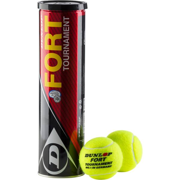 DUNLOP Tennisbälle Fort Tournament 4er-Dose