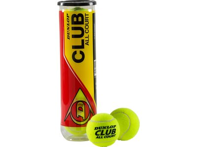 DUNLOP Ball D TB CLUB ALL COURT INTERSP. 4PET Gelb