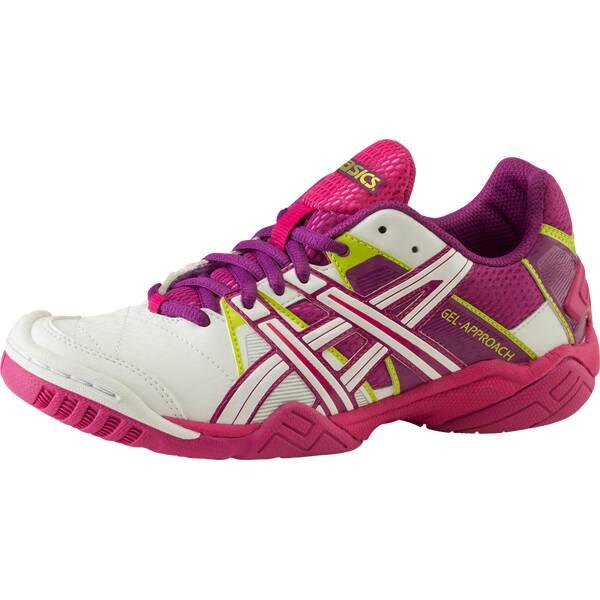 ASICS Damen Handballschuhe Gel-Approach 2 | Schuhe > Sportschuhe > Handballschuhe | Weiß - Lila - Pink | ASICS