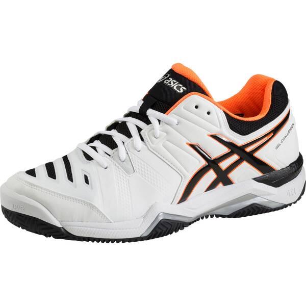 ASICS Herren Tennisschuhe Outdoor Gel Challenger 10 Clay | Schuhe > Sportschuhe > Tennisschuhe | White - Orange | ASICS