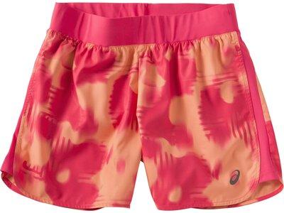 ASICS Damen Laufshorts FuzeX 5,5 Print Short Orange