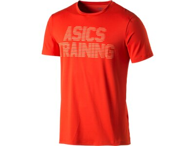 ASICS Herren Shirt Graphic Top Orange