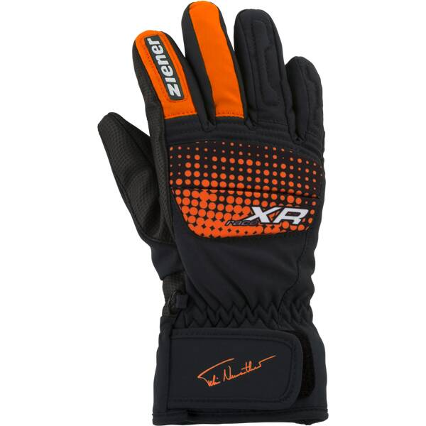 13ba717ad73534 ZIENER Kinder Handschuhe ISP 18-JUNIOR 1492 AS(R) GLOVE Schwarz/Orange