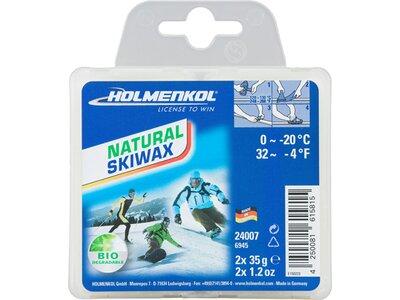 HOLMENKOL Unisex Natural Skiwax 2x35 g Weiß