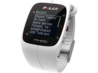 POLAR GPS Multifunktionsuhr M400 HR White Weiß