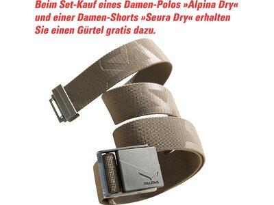 SALEWA Damen Shirt Alpina Dry W S/s Polo Blau
