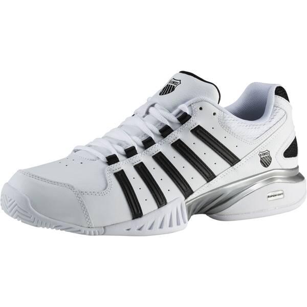 K-SWISS Herren Tennisschuhe Receiver III Carpet | Schuhe > Sportschuhe > Tennisschuhe | Weiß - Schwarz | Leder | K-SWISS TENNIS