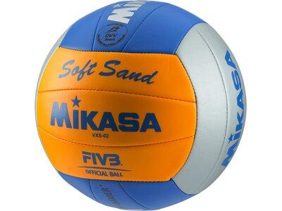 MIKASA Beachvolleyball Soft Sand Grau