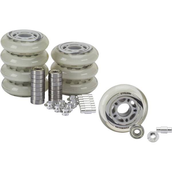 POWERSLIDE Inline-Skates-Rollen/Kugellager-Set 76 mm