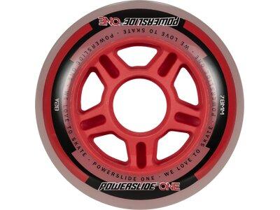 POWERSLIDE Inlineskates-Rollen-Set One Wheels 76mm Rot