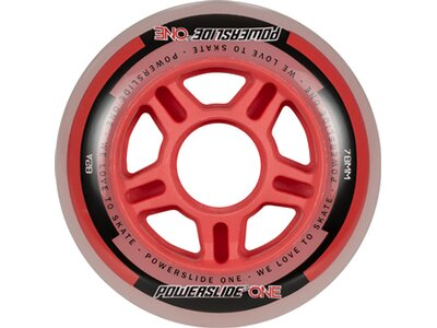 POWERSLIDE Inlineskates-Rollen-Set One Wheels 76mm Rot