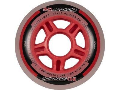 POWERSLIDE Inlineskates-Rollen-Set One Wheels 80mm Rot
