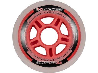 POWERSLIDE Inlineskates-Rollen-Set One Wheels 84mm Rot