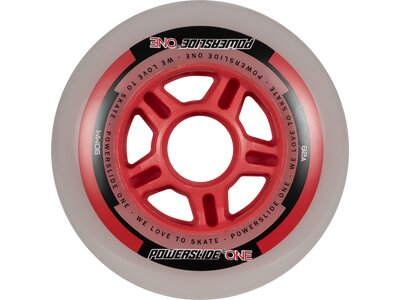 POWERSLIDE Inlineskates-Rollen-Set One Wheels 90mm Rot