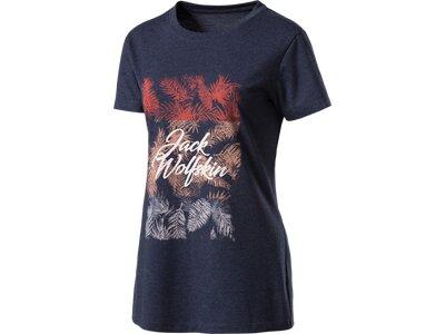 "JACKWOLFSKIN Damen T-Shirt ""Royal Palm"" Blau"