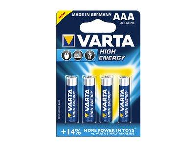 VARTA Akku-Batterie High Energy AAA (Micro) Blau