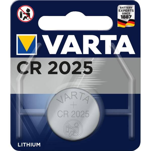 VARTA Akku Batterie Knopfzelle CR 2025