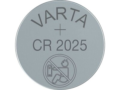 VARTA Batterie Knopfzelle CR 2025 Blister 2 Weiß