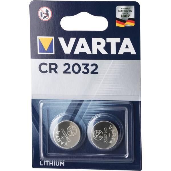 VARTA Batterie Knopfzelle CR 2032 Blister 2