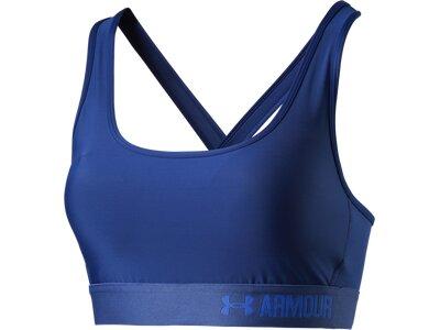 UNDER ARMOUR Damen BH Compression Crossback Mid Blau