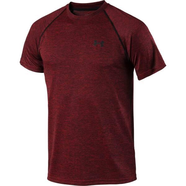 UNDERARMOUR Herren Trainingsshirt Tech Kurzarm Rot