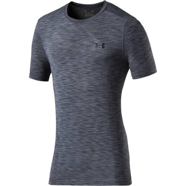 UNDERARMOUR Herren Trainingsshirt Threadborne Seamless s/s Kurzarm Grau