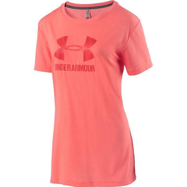 UNDER ARMOUR Damen Trainingsshirt Threadborne mit Logo Kurzarm