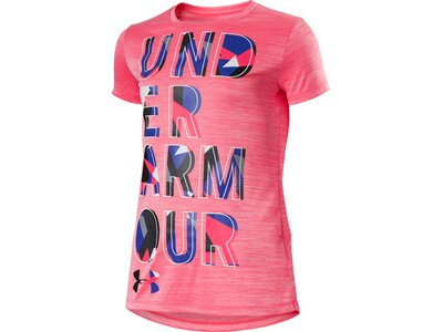 UNDER ARMOUR Kinder Hemd HYBRID 2.0 BIG LOGO TEE Pink