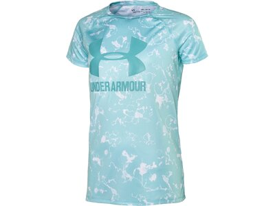 UNDER ARMOUR Kinder Hemd Big Logo Tee Novelty SS Blau